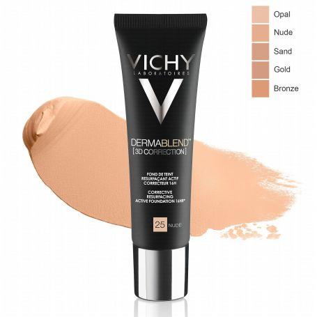 Vichy Dermablend 3d Correction Fond De Teint Resurfaçant 30 Ml 25 Nude